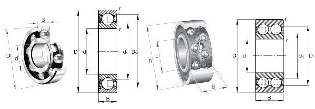 SKF 628-2RZ Bearing