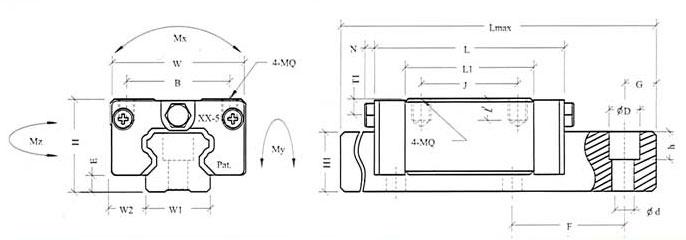SJA45B滑块-直线导轨、现货供应
